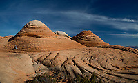 Erosion and volcanic upheavel have produced an unusual landscape at Yant Flats on BLM land near St. George, Utah