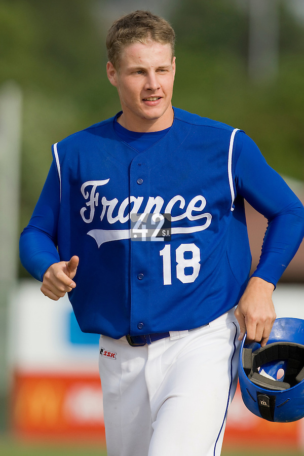 BASEBALL - GREEN ROLLER PARK - PRAGUE (CZECH REPUBLIC) - 27/06/2008 - PHOTO: CHRISTOPHE ELISE.GREGORY CROS (TEAM FRANCE)