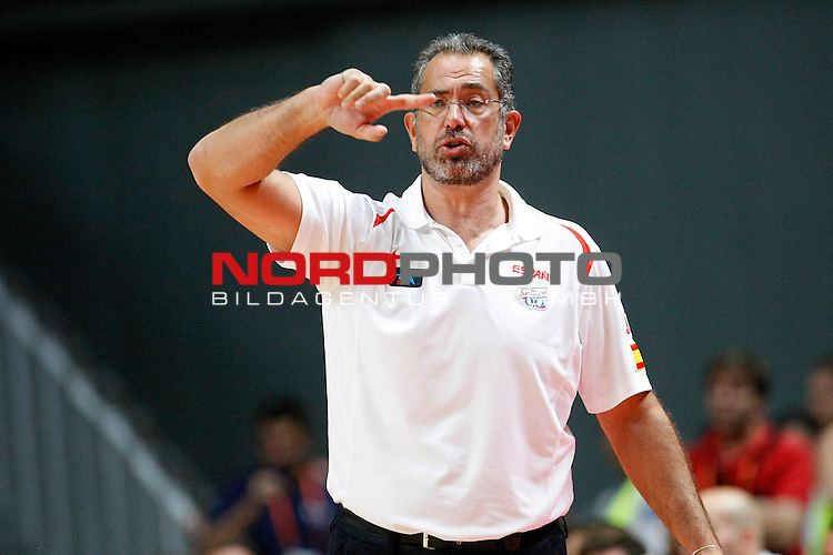 Spain's coach Juan Antonio Orenga during friendly match.August 23,2012. Foto © nph / Acero)