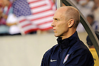 United States (USA) head coach Bob Bradley. The United States (USA) defeated Panama (PAN) 2-1 during a quarterfinal match of the CONCACAF Gold Cup at Lincoln Financial Field in Philadelphia, PA, on July 18, 2009.