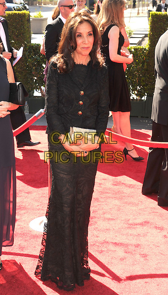 Olivia Harrison.2012 Creative Arts Emmy Awards at Nokia Theatre L.A. Live, Los Angeles, California USA..15 September 2012.emmys full length black dress lace gold clutch bag .CAP/ROT/TM.© TM/Roth/Capital Pictures