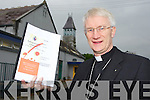 Bishop Ray Browne with the Review of Safeguarding Children in the Diocese of Kerry report launch in Killarney on Tuesday
