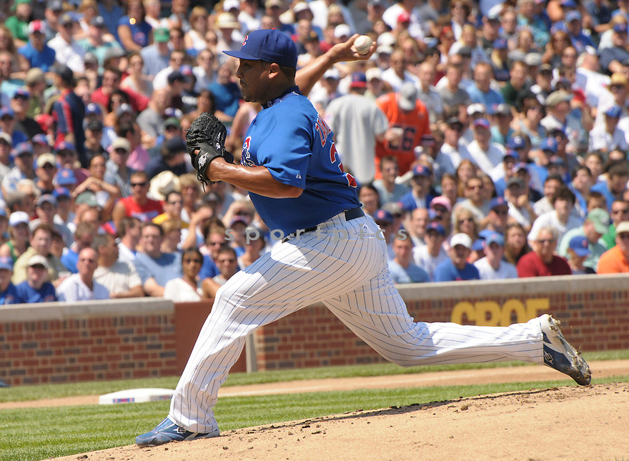 CARLOS ZAMBRANO, of the Chicago Cubs in action against the Pittsburgh Pirates during the Cubs  game in Chicago, IL on August 3,  2008... The Cubs won the game 8-5