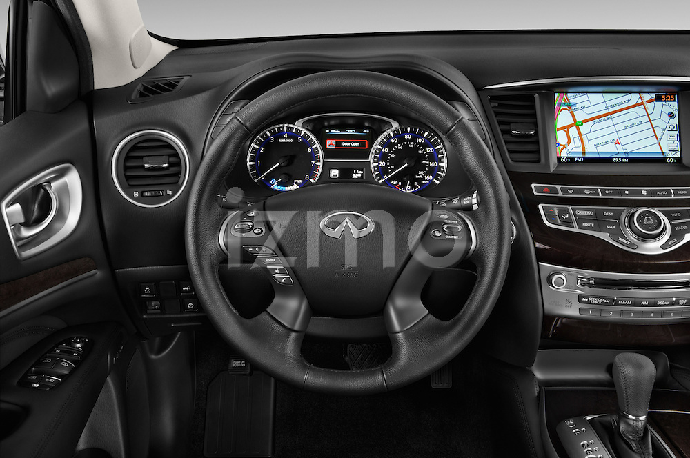 Car pictures of steering wheel view of a 2014 Infiniti QX60 Hybrid 5 Door SUV Steering Wheel