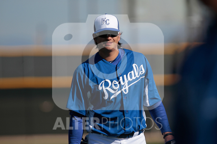 Luis Mendoza of the Royals Of Kansas City.during the  Spring Trainig  2013 en Arizona..(©NortePhoto)