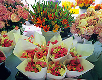 Flowers for sale at Pike's Market. Seattle, Washington