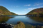 Boating on Long Pond in the Autumn, Acadia National Park, Maine, USA