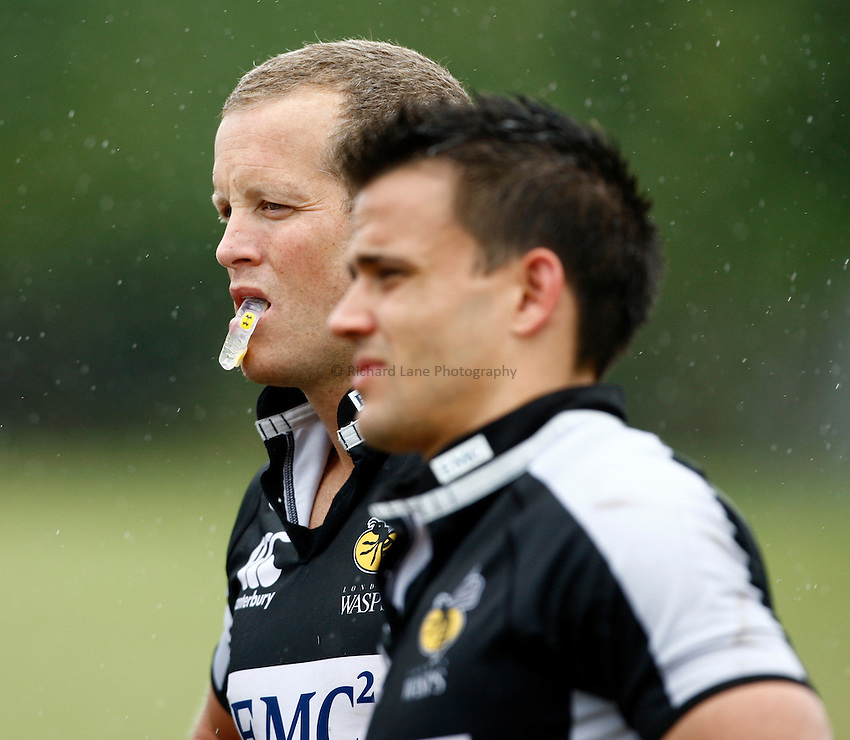 Photo: Richard Lane/Richard Lane Photography. London Wasps training at RAF Halton as part of an CoacHclass Wasps and RAF lead rugby coaching 3 day course for young rugby players. 10/08/2010. Wasps' Dave Walder.