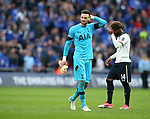 Tottenham's Hugo Lloris looks on dejected at the final whistle during the FA Cup Semi Final match at Wembley Stadium, London. Picture date: April 22nd, 2017. Pic credit should read: David Klein/Sportimage