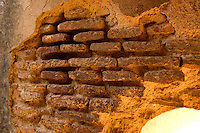 Ultra slim bricks that are characteristic of 18 century Awadh architecture from the Bada Imambada structure, Lucknow