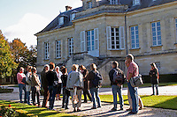 Group of visitors. Chateau La Louviere, Pessac Leognan, Graves, Bordeaux, France
