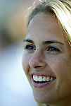18 June 2004: Heather Mitts of the Philadelphia Charge before the game. The Atlanta Beat tied the New York Power 2-2 at the National Sports Center in Blaine, MN in Womens United Soccer Association soccer game featuring guest players from other teams.
