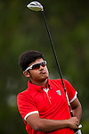 Subham Narain of India in action at the 9th Faldo Series Asia Grand Final 2014 golf tournament on March 18, 2015 at Faldo course in Mid Valley clubhouse in Shenzhen, China. Photo by Xaume Olleros / Power Sport Images