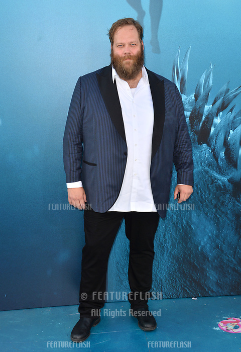 "LOS ANGELES, CA - August 06, 2018: Olafur Darri Olafsson at the US premiere of ""The Meg"" at the TCL Chinese Theatre"