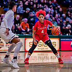 26 January 2019: Stony Brook Seawolves Guard Anastasia Warren, a Freshman from Atlanta, GA, in action against the University of Vermont Catamounts at Patrick Gymnasium in Burlington, Vermont. The Lady Seawolves defeated the Lady Catamounts 67-61 in America East Women's Basketball. Mandatory Credit: Ed Wolfstein Photo *** RAW (NEF) Image File Available ***