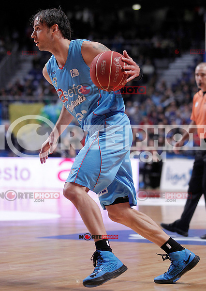 Asefa Estudiantes' Carl English during Liga Endesa ACB match.January 13,2012. (ALTERPHOTOS/Acero)
