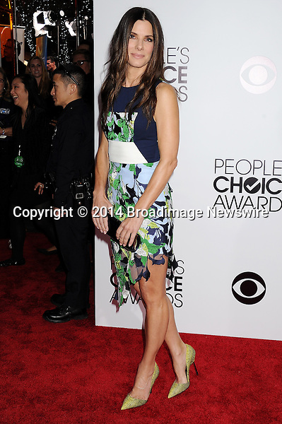 Pictured: Sandra Bullock<br /> Mandatory Credit &copy; Gilbert Flores /Broadimage<br /> 2014 People's Choice Awards <br /> <br /> 1/8/14, Los Angeles, California, United States of America<br /> Reference: 010814_GFLA_BDG_175<br /> <br /> Broadimage Newswire<br /> Los Angeles 1+  (310) 301-1027<br /> New York      1+  (646) 827-9134<br /> sales@broadimage.com<br /> http://www.broadimage.com