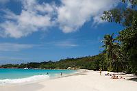 Seychelles, Island Praslin, Anse Lazio: Praslin's most beautiful beach
