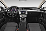 Stock photo of straight dashboard view of a 2015 Volkswagen Passat Comfort 4 Door Sedan Dashboard