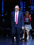 Reggie Jackson during the Curtain Call for the Roundabout Theatre Company presents a One-Night Benefit Concert Reading of 'Damn Yankees' at the Stephen Sondheim Theatre on December 11, 2017 in New York City.