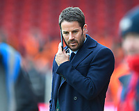 Sky pundit Jamie Redknapp takes a call during AFC Bournemouth vs Arsenal, Premier League Football at the Vitality Stadium on 14th January 2018