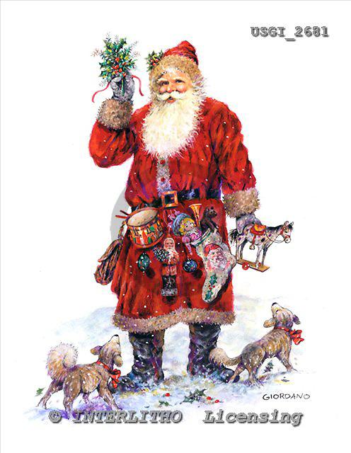 GIORDANO, CHRISTMAS SANTA, SNOWMAN, WEIHNACHTSMÄNNER, SCHNEEMÄNNER, PAPÁ NOEL, MUÑECOS DE NIEVE, nostalgic, paintings+++++,USGI2681,#X# nostalgic,vintage