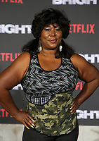 WESTWOOD, CA - DECEMBER 13: Kia Stevens, at Premiere Of Netflix's 'Bright' at The Regency Village Theatre, In Hollywood, California on December 13, 2017. Credit: Faye Sadou/MediaPunch /NortePhoto.com NORTEPHOTOMEXICO