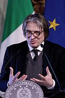 Roma,14 Marzo 2017<br /> Antonio Campo Dall'Orto, Direttore Generale della RAI.<br /> Presentazione della 25ma edizione delle 'Giornate Fai di Primavera' a Palazzo Chigi