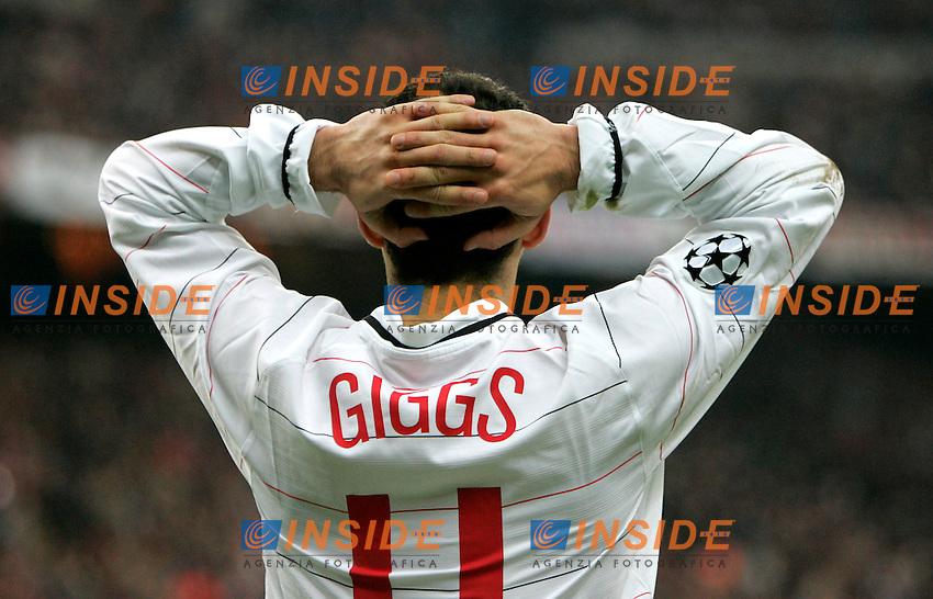 RYAN GIGGS<br /> Champions League 2004/2005<br /> Milan Manchester United Champions League<br /> Foto Insidefoto