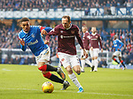 01.12.2019 Rangers v Hearts: James Tavernier and Aidan White