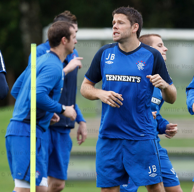 James Beattie growling at training