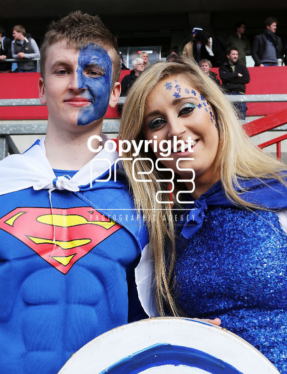 18/3/2013   Munster Rugby Schools Senior Rugby Final at Thomond Park, Limerick  between Crescent College and Rockwell College.   Disappointed Rockwell fans Cian McCann(18), Cahir and Aoife Purcell(18), Clonmel.                    Picture Liam Burke/Press 22