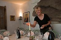 Europe/France/Corse/2B/Haute-Corse/Cap Corse/Nebbio/Murato: Pauline Julliard dans sa Ferme Auberge Campu di Monte     [Non destiné à un usage publicitaire - Not intended for an advertising use]