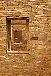 Windows, Pueblo Bonito ruins..Chaco Culture National Historical Park.