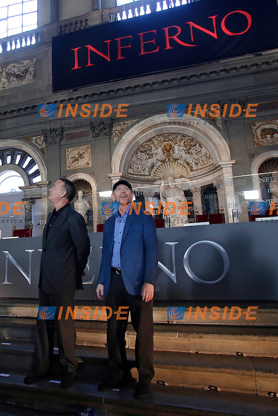 Tom Hanks e Ron Howard<br /> Firenze 06-10-2016. Photocall del film 'Inferno' in anteprima mondiale.<br /> Rome 6th October 2016. 'Inferno' Photocall<br /> Foto Samantha Zucchi Insidefoto