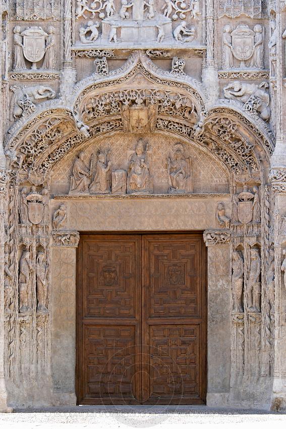 Iglesia de San Pablo church side entrance Valladolid spain castile and leon