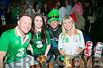 Fans l-r  John O'Neill, Nicole Moriarty, Paul Sweeney and Philomena Moriarty watching the EURO's Ireland v France at the Huddle Bar on Sunday