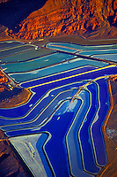 Colorful Potash Ponds, Near Moab, Utah Evaporation ponds near Colorado River