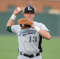 Infielder Matt Duffy (13) of the Lexington Legends, a Houston Astros affiliate, prior to a game against the Greenville Drive on May 3, 2012, at Fluor Field at the West End in Greenville, South Carolina. (Tom Priddy/Four Seam Images)