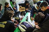 Milano, occupazione e autogestione del Liceo Artistico Statale di Brera per protestare contro la riforma dell'istruzione --- Milan, occupation and self-management of Brera art high school as a protest against the school reform