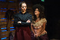 "London, UK. 10.02.2014.  ""In Skagway"" by Karen Ardiff, directed by Russell Bolam, opens at the Arcola Theatre. Picture shows: Kathy Rose O'Brien (T-Belle) and Natasha Starkey (Nelly). Photograph © Jane Hobson."