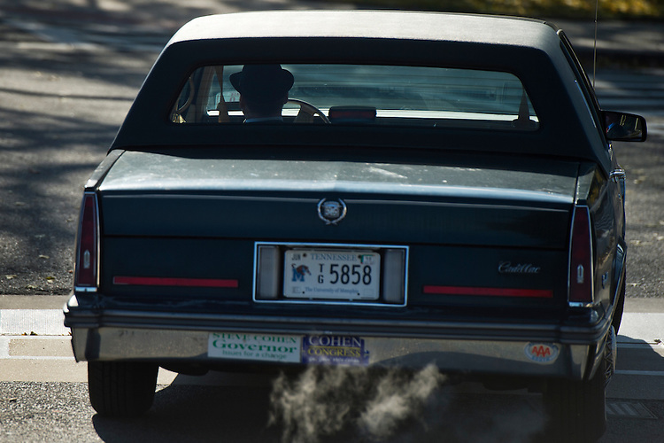 UNITED STATES - NOVEMBER 20: Rep. Steve Cohen, D-Tenn, drives off of the east front of the Capitol after the last votes of the week in the House, November 20, 2014. (Photo By Tom Williams/CQ Roll Call)