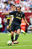 Landover, MD - August 4, 2018: Juventus defender Giorgio Chiellini (3) with the ball during the match between Juventus and Real Madrid at FedEx Field in Landover, MD.   (Photo by Phillip Peters/Media Images International)