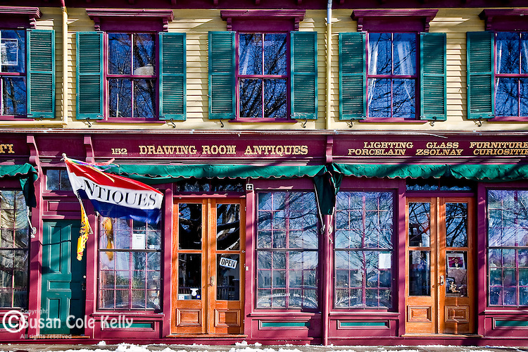 An antique shop in Newport, RI, USA
