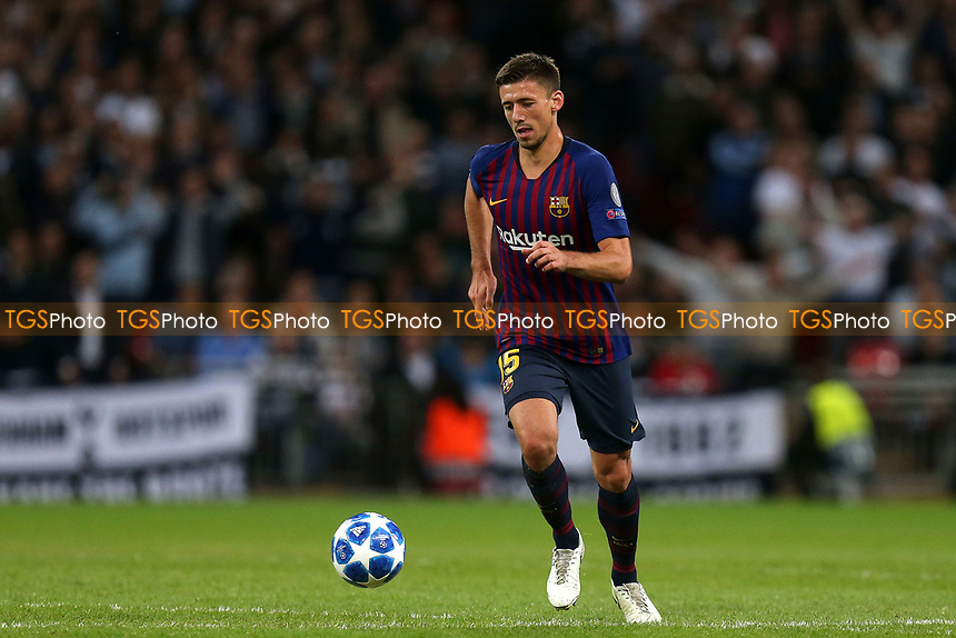 Clement Lenglet of FC Barcelona during Tottenham Hotspur vs FC Barcelona, UEFA Champions League Football at Wembley Stadium on 3rd October 2018