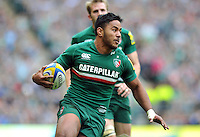 Manu Tuilagi in possession. Aviva Premiership Final, between Leicester Tigers and Northampton Saints on May 25, 2013 at Twickenham Stadium in London, England. Photo by: Patrick Khachfe / Onside Images