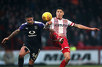 Alex Revell of Stevenage and Alan Sheehan of Luton Town during Stevenage vs Luton Town, Sky Bet EFL League 2 Football at the Lamex Stadium on 10th February 2018
