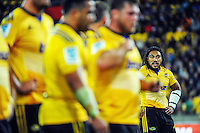 Ma'a Nonu waits for a scrum to set during the Super Rugby match between the Hurricanes and Stormers at Westpac Stadium, Wellington, New Zealand on Friday, 2 April 2015. Photo: Dave Lintott / lintottphoto.co.nz