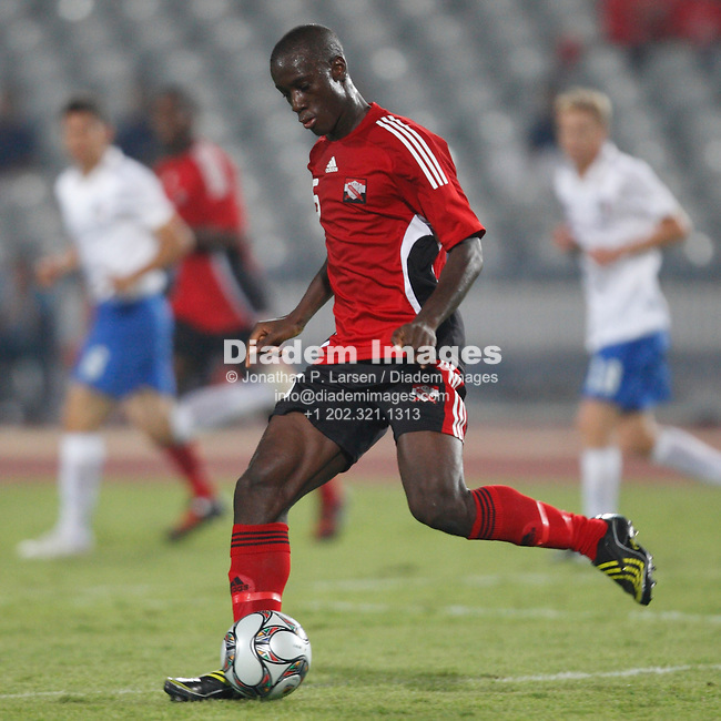 CAIRO, EGYPT - SEPTEMBER 28:  Uriah Bentick of Trinidad and Tobago in action during a FIFA U-20 World Cup soccer match against Italy September 28, 2009 in Cairo, Egypt.  (Photograph by Jonathan P. Larsen)