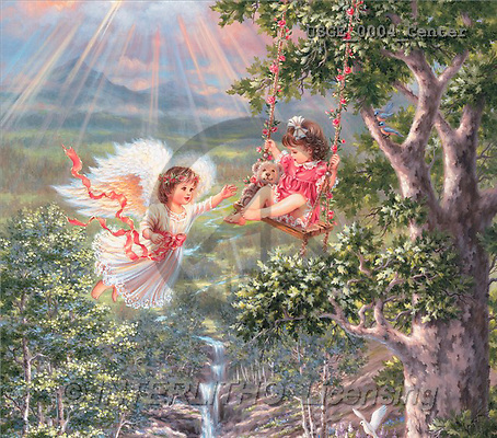 Dona Gelsinger, CHILDREN, paintings(USGE0004/Center,#K#) Kinder, niños, illustrations, pinturas angels, ,everyday